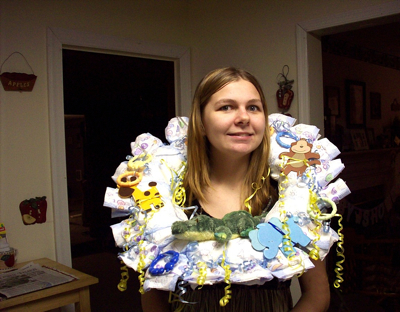 Making A Diaper Wreath Thriftyfun